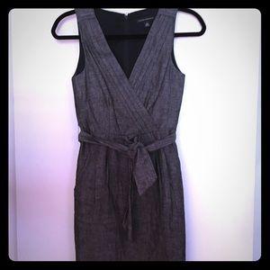 Banana Republic Black/White Denim Linen Dress